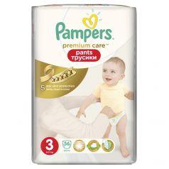 Трусики Pampers Premium Care Pants 3 размер (6-11 кг) 56 шт.