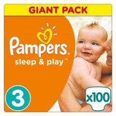 Подгузники Pampers Sleep & Play Размер 3 (4-9 кг) 100 шт.