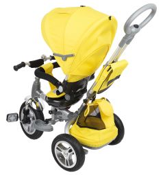 Трехколесный велосипед Capella Twist Trike 360, цвет: желтый
