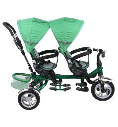 Трехколесный велосипед Capella Twin Trike 360, цвет: зеленый