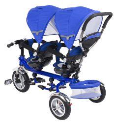 Трехколесный велосипед Capella Twin Trike 360, цвет: синий