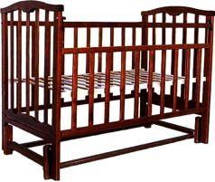 Кровать-качалка Агат Золушка-5, цвет: шоколад
