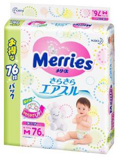 Подгузники Merries (6-11 кг) 76 шт.