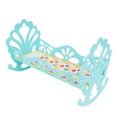 Кровать-качалка Полесье сборная для кукол бирюзовый