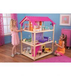 Дом для кукол KidKraft Для барби самый роскошный с мебелью 118 см