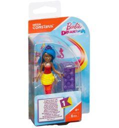 Кукла Mega Bloks Барби с синими волосами с диадемой, 6 дет.