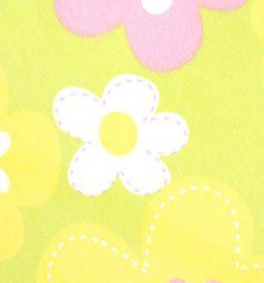 Коляска-трость для кукол MelogoMelobo (зеленый/цветочки) 55 см