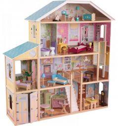 Дом для кукол KidKraft Великолепный особняк с мебелью для Барби Высота куклы 30 см