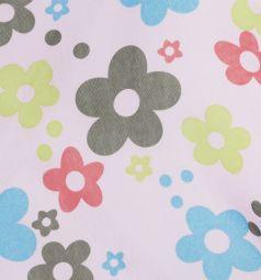 Коляска-трость для кукол MelogoMelobo (розовый/цветы) 46 см