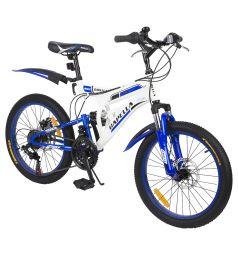 Велосипед Capella G20S650, цвет: белый/синий