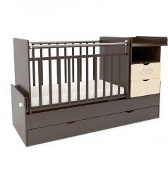 Кровать-трансформер Sweet Baby Valentino, цвет: венге/слоновая кость