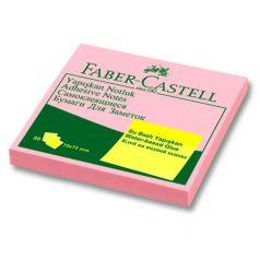 Самоклеящиеся бумаги для заметок 80 листов Faber-Castell блок розовый