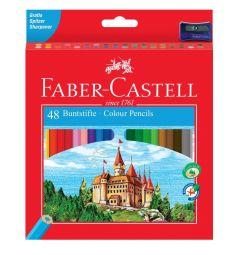 Карандаши цветные Faber-Castell ECO замок с точилкой 48 шт.