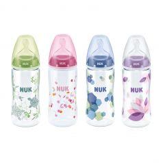 Бутылочка Nuk First Choice Plus полипропилен 0-6 мес, 300 мл, цвет: зеленый/розовый/голубой/фиолетовый