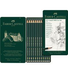 Карандаши чернографитовые Faber-Castell CASTELL® 9000 12 шт.