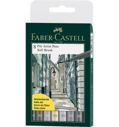 Капиллярные ручки Faber-Castell Pitt Artist Pen Soft Brush 8 шт.