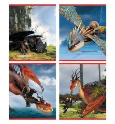 Тетрадь А5 24 листа клетка Action Dragons