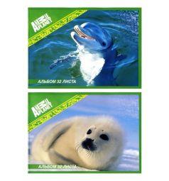 Альбом для рисования 32 листа Action Animal Planet