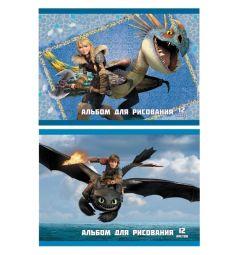 Альбом для рисования 12 листов Action Dragons
