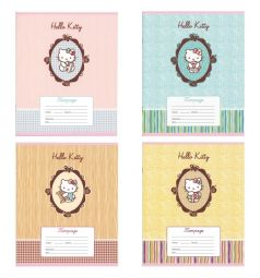 Тетрадь А5 12 листов линейка Action Hello Kitty
