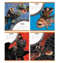 Тетрадь А5 12 листов клетка Action Dragons