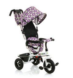 Трехколесный велосипед BabyHit Kids Tour XT, цвет: белый/сиреневый