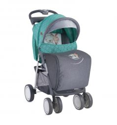 Прогулочная коляска Lorelli Foxy, цвет: серый/зеленый