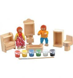 Набор для творчества Мир Деревянных Игрушек Ванная комната 28 см