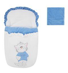 Leader Kids Комплект Мой котенок, цвет: голубой конверт/шапка 2 предмета