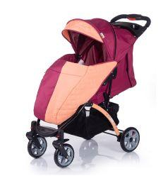 Прогулочная коляска BabyHit Tetra, цвет: бордо/оранжевый