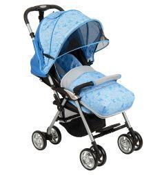 Прогулочная коляска Corol S-12, цвет: серый/синий