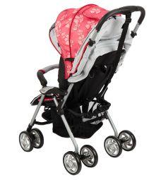 Прогулочная коляска Corol S-12, цвет: красный/серый
