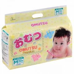 Подгузники Omutsu M (6-11 кг) 52 шт.