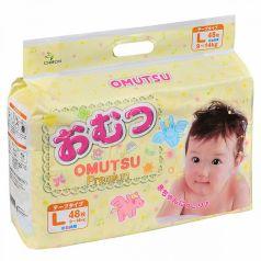 Подгузники Omutsu L (9-14 кг) 48 шт.