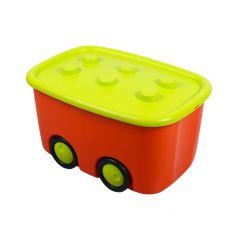 Ящик для игрушек М-Пластика Моби, цвет: оранжевый