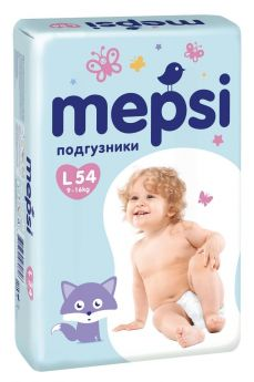 Подгузники Mepsi Premium L (9-16 кг) 54 шт.