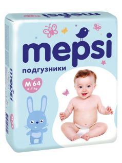 Подгузники Mepsi Premium M (6-11 кг) 64 шт.