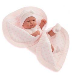 Кукла-младенец Juan Antonio Карла в розовом розовом 26 см