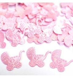 Конфетти для праздника Патибум Коляска розовая 100 шт