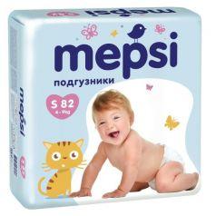 Подгузники Mepsi Premium р. S (4-9 кг) 82 шт.