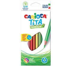 Карандаши цветные Carioca tita трехгран. 12 цв.