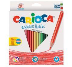 Карандаши цветные Carioca triangular трехгран. 24 цв.