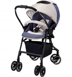 Прогулочная коляска Combi Mechacal Handy 4cas, цвет: бежевый/синий