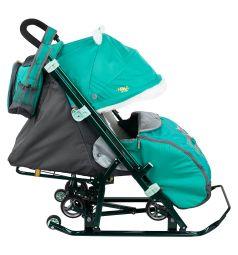 Санки-коляска Ника Детям 7-2, цвет: kitty/изумруд
