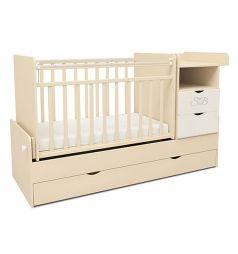 Кровать-трансформер Sweet Baby Valentino, цвет: слоновая кость/белый
