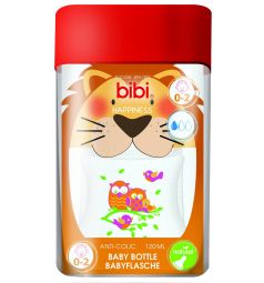 Бутылочка Bibi полипропилен с 0 мес, 120 мл