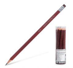 Карандаш чернографитный Koh-I-Noor KIN с резинкой трехгран. твердость HB