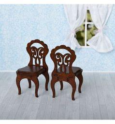 Аксессуары для кукол Яигрушка Стулья коричневый