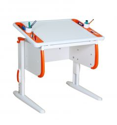 Универсальный стол Дэми СУТ.26, цвет:белый/оранжевый