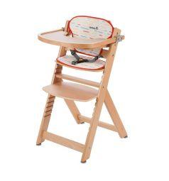 Стульчик для кормления Safety 1st Timba with Tray and Cushion с мягким вкладышем, цвет: natural wood